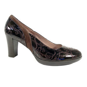 BEAUTIFEEL Piano Embroidered Patent Leather Pumps